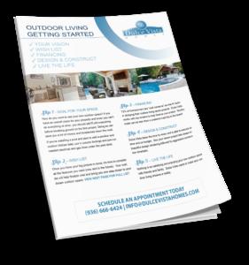 Dulce Vista Homes Outdoor Checklist Flyer Mockup